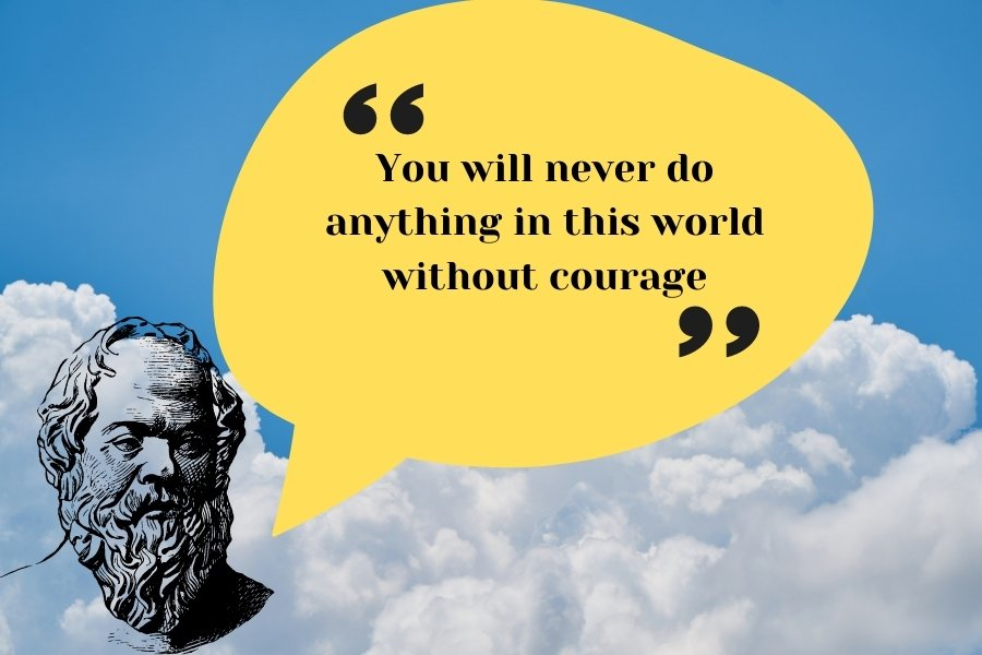 You will never do anything in this world without courage