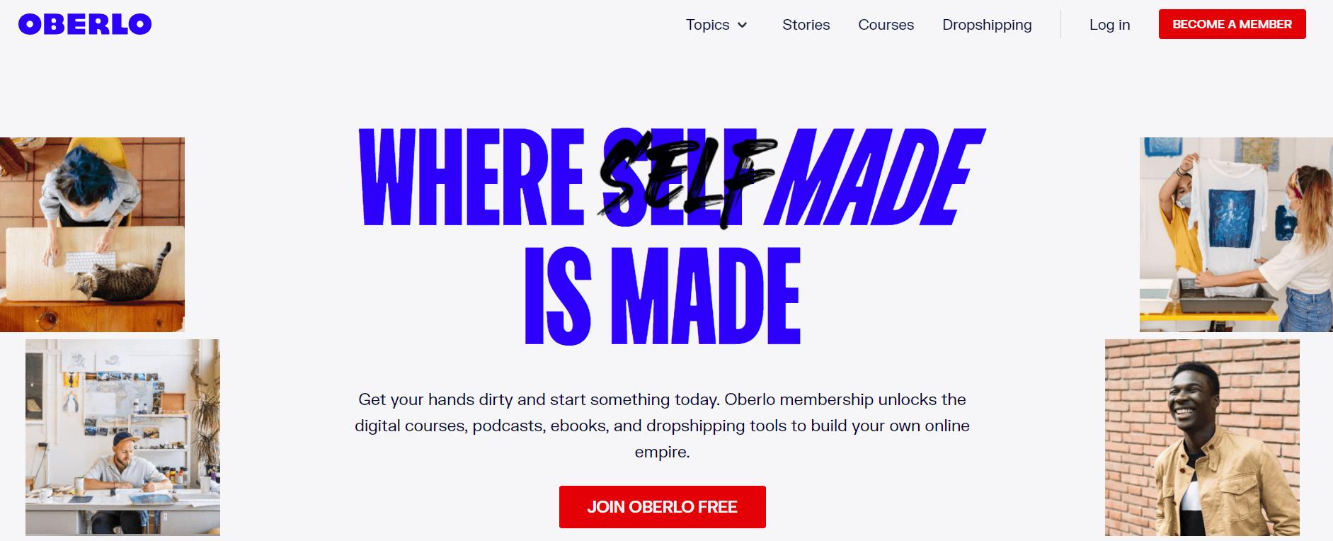 oberlo website