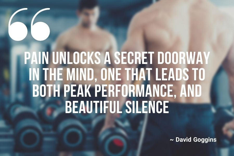 Pain unlocks a secret doorway in the mind, one that leads to both peak performance, and beautiful silence