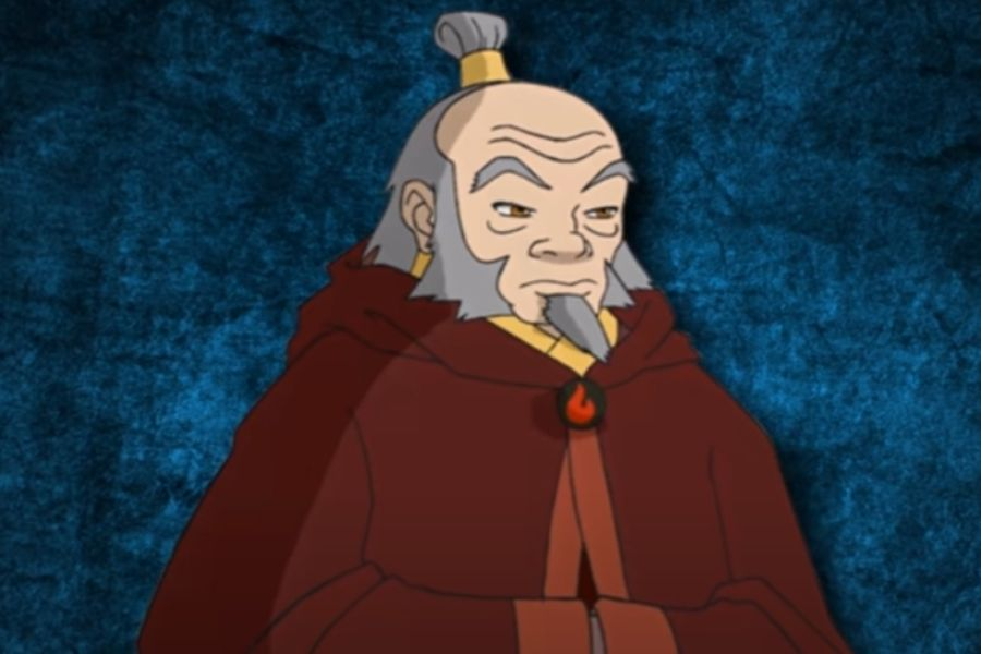 Uncle Iroh in fire nation suit