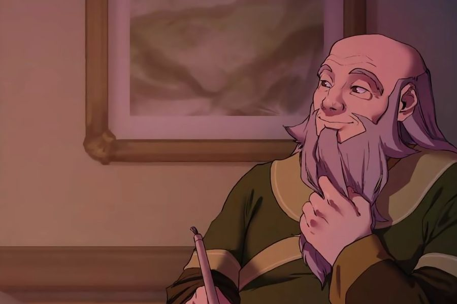 Uncle Iroh is giving wisdon