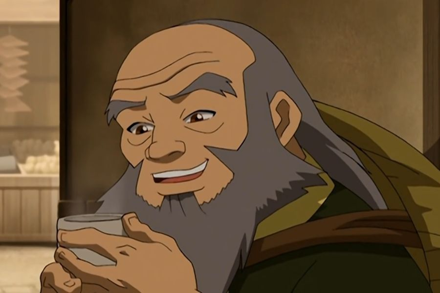 Uncle Iroh and drinking tea