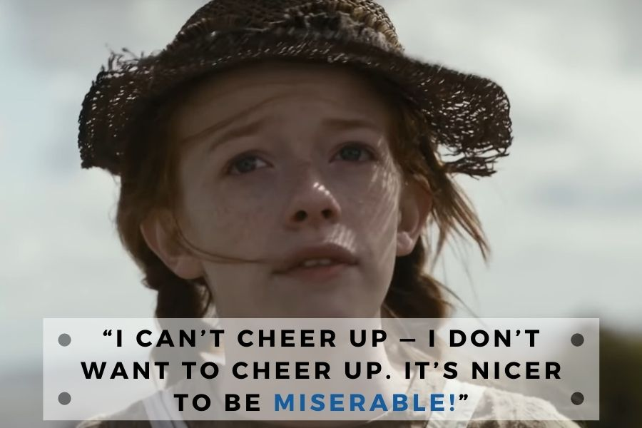 anne of green gables quote about being cheer up