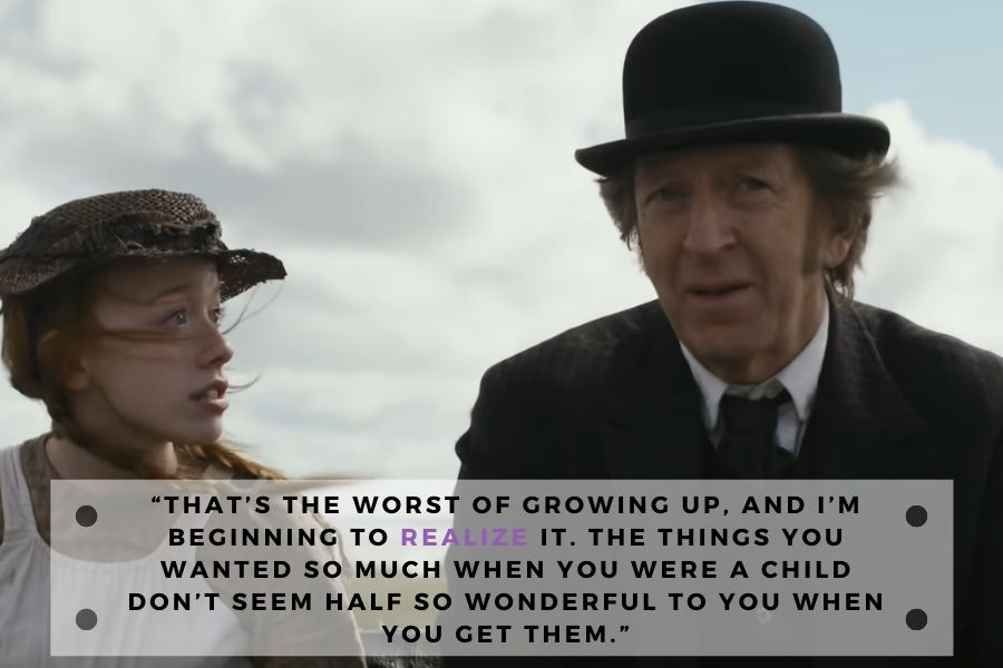 anne of green gables quote about growing up