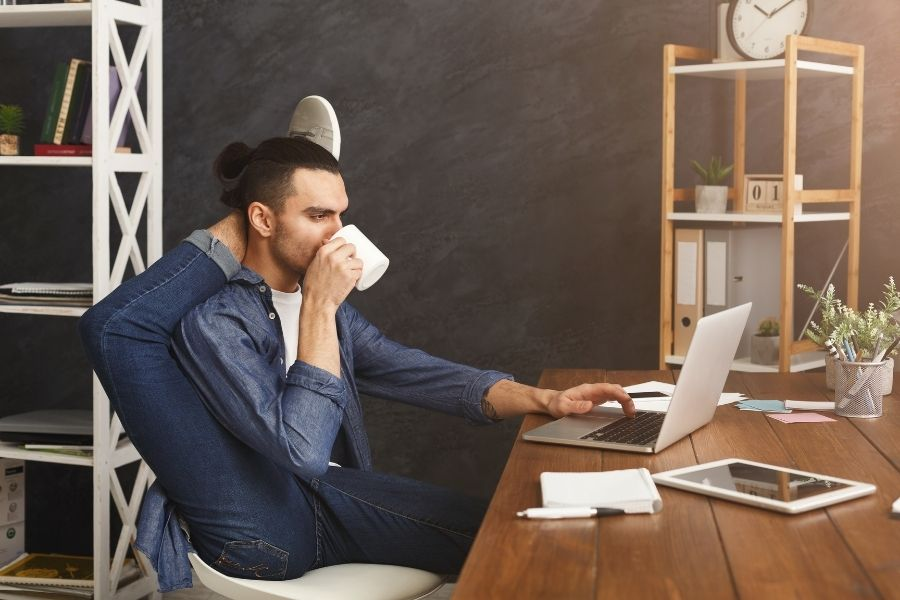 Business flexibility and a man in the office