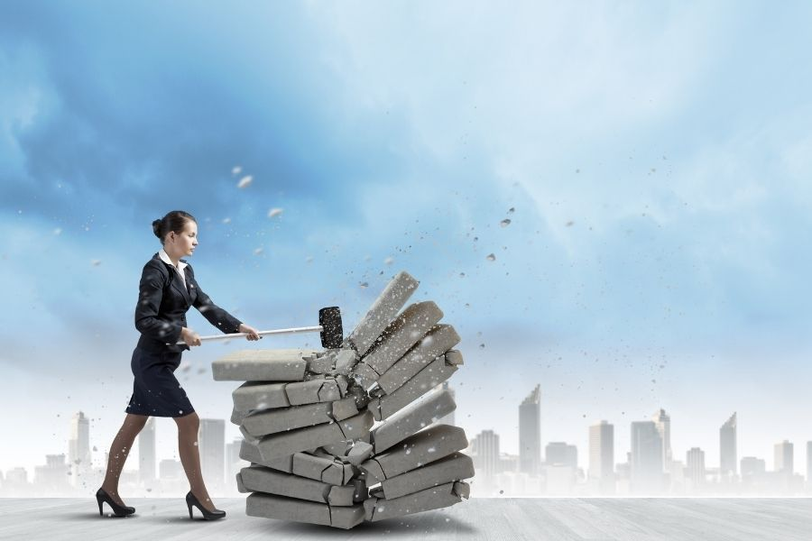 A woman is determined in business