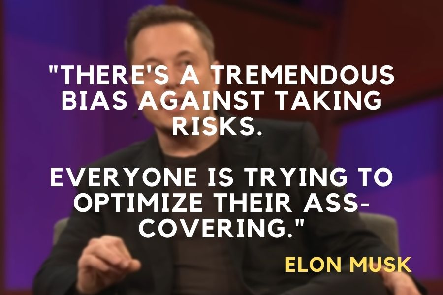 Elon Musk quote about taking risk
