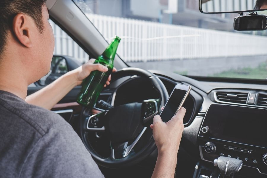A young drunk driver